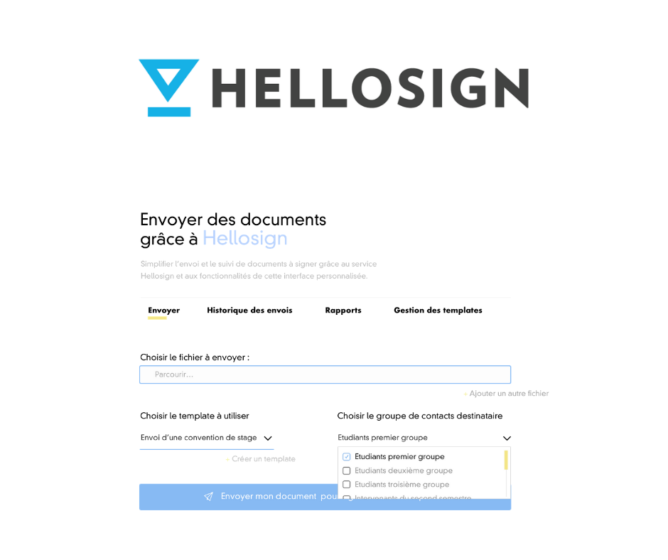 Hellosign et exemple